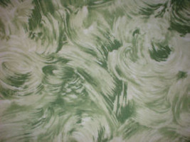 Fabric Jersey Knit Vintage Retro Green White Swirl - $11.30