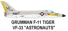 1/144 scale Resin Kit Grumman F-11F Tiger VF-33 Astronauts - $15.00