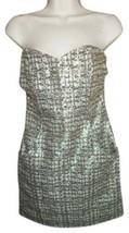 NWT H&M STRAPLESS GOLD METALLIC DRESS SIZE 6 - $29.99