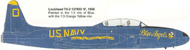 1/144 scale Resin Kit Lockheed T-33C US Navy Blue Angels - $12.00