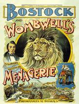 Bostock & Wombwell's Menagerie Circus Advertisement British Metal Sign - $19.95