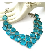 Handmade 925 Sterling Silver and Blue Topaz Nec... - $96.00