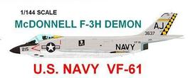 1/144 scale Resin Kit McDonnell F-3H Demon US Navy VF-61 Jolly Rogers - $19.00
