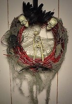 Creepy Halloween Wreath- The Creeps by Moonchylde Creations - $11.45