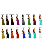 Women's Solid Color Maxi Full Length Mermaid Shape Skirts Folder Over Wa... - $30.00