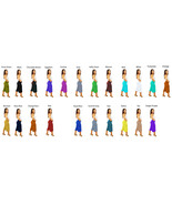 Women's Solid Color Capri Gaucho Short Wide Legged Pants Many Colors - $24.99