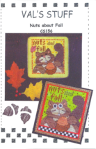 Nuts About Fall cross stitch chart Val's Stuff  - $7.00