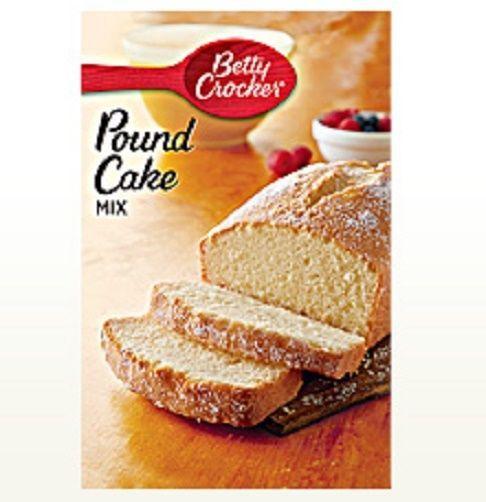 Betty Crocker Pound Cake Mix
