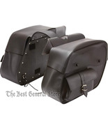 2pc Water-Resistant PVC Slanted Motorcycle Saddlebag Set Quick-Release B... - $118.96