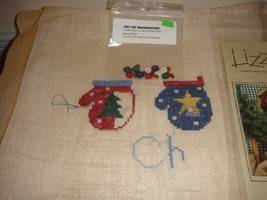 Lizzie Kate Cross Stitch All Hearts Warm At Christmas #61 Plus Fabric & Buttons image 4
