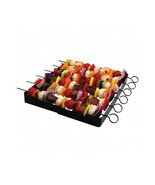BBQ Shish Kabob Skewers 6 Set Grill Meat Veggie... - $19.75