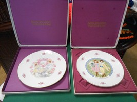 Outstanding ROYAL DOULTON Two Collector Plates VALENTINE'S DAY 1976 & 1977 - $15.43