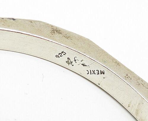 MEXICO 925 Silver - Vintage Smooth Geometric Designed Bangle Bracelet - B5046