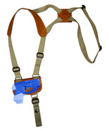 NEW Barsony Saddle Tan Leather Shoulder Holster Mini .22 .25 .32 .380 w/... - $54.99