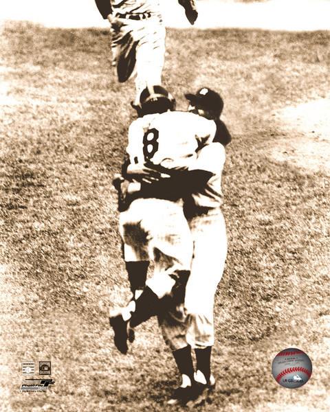 Don Larsen Yogi Berra New York Yankee 8X10 Sepia Baseball Memorabilia Photo - $4.99