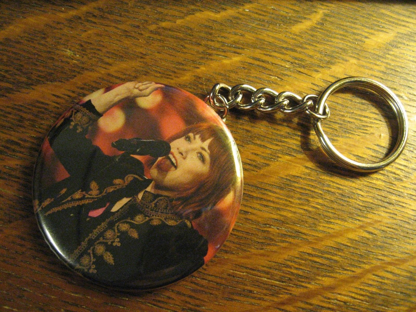 Carly Rae Jepsen Keychain -  Repurposed Magazine Backpack Purse Clip Ornament