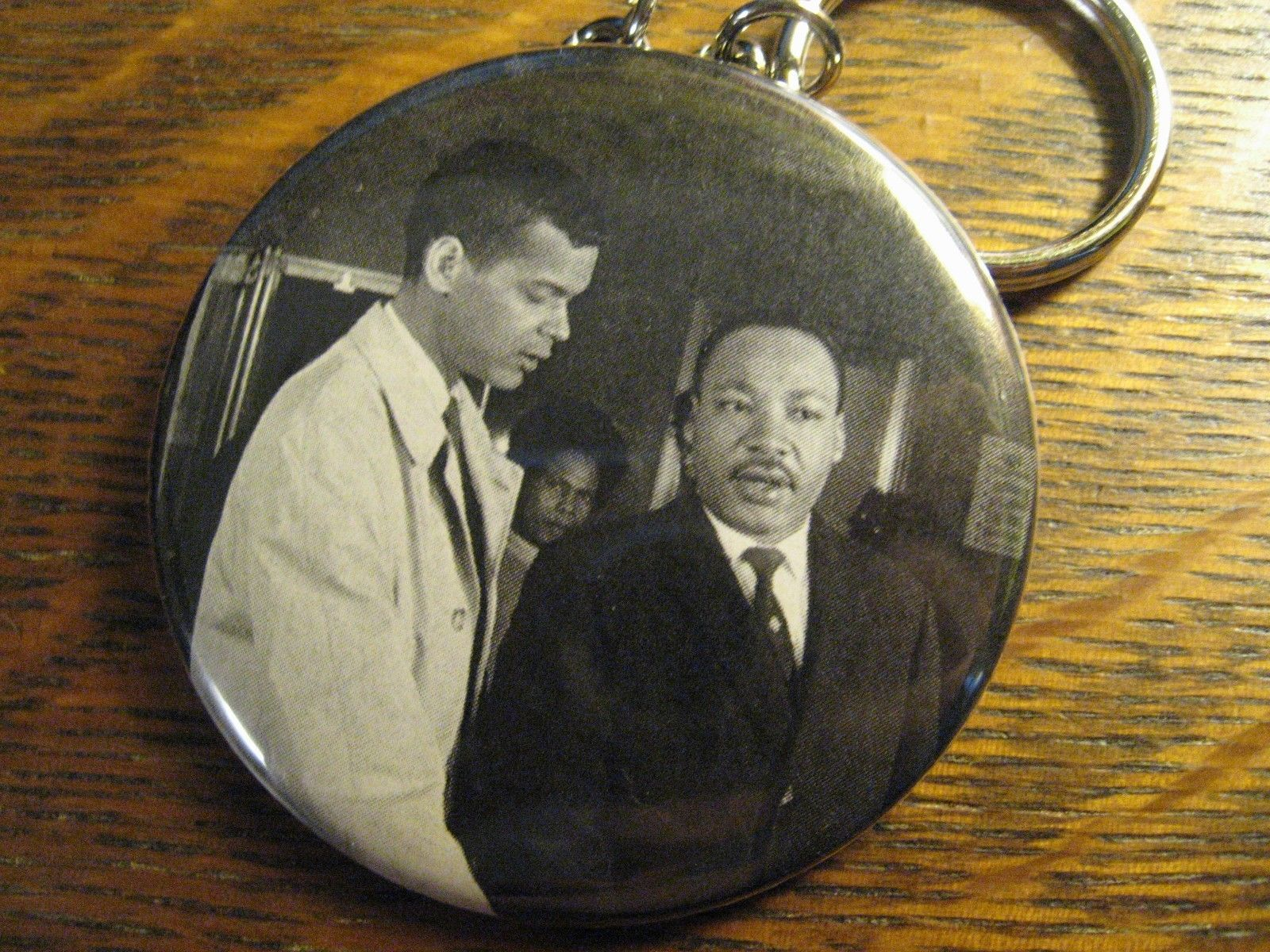 Julian Bond Keychain -  Repurposed Civil Rights Backpack Purse Clip Ornament