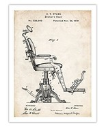 VINTAGE DENTIST CHAIR INVENTION POSTER 1879 US PATENT ART DOCTOR DR MD R... - $24.97