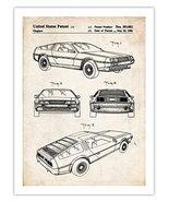 DELOREAN BACK TO THE FUTURE MOVIE CAR 1986 US PATENT ART RETRO POSTER PR... - $24.97