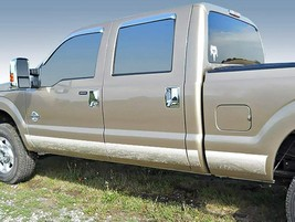 "2011-2016 Ford F-250/F-350 Crew Cab Long Bed Rocker Panel Trim 6""Stainless Steel - $179.99"