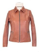 Alpakaandmore Womens Lamb Nappa Leather Jacket Stand-up Collar (Small) [Apparel] - $285.12