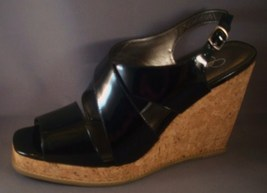 JESSICA SIMPSON EVA BLACK  PLATFORM WEDGE WOMEN SIZE 10 - $43.00