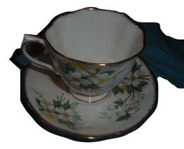 Royal Albert White Dogwood china cup and saucer England #4 - $32.99