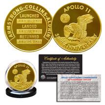 Apollo 11 NASA 50th Anniversary Commemorative One-Ounce 1 OZ 24K Gold Cl... - $14.92