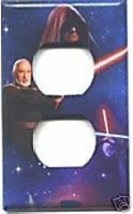 Outlet Light Switch Plate Cover of Star Wars Image #3A - $6.75