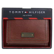 Tommy Hilfiger Men's Trifold Zipper Coin Credit Card ID Wallet 31TL110021 image 7