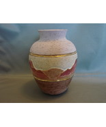 Native American Vase with 24K Gold Inlay - Ceramic Pottery Vase Signed  - $11.99
