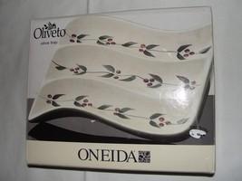 Oneida Oliveto Olive Tray Ceramic Serving Dish New Opened Box - $17.74