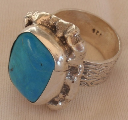 Turuoise silver ring 035