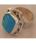Turuoise silver ring 035 - $48.00