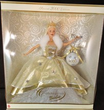 Celebration Barbie Doll Special 2000 Edition Gold Designed Background NIB - $15.85