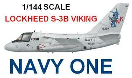 1/144 scale Resin Kit Lockheed S-3B Viking Navy One - $19.00