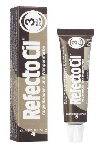 RefectoCil Eyelash & Eyebrow Cream Hair Dye, Natural Brown  .5 oz