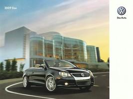 2009 Volkswagen EOS sales brochure catalog US 09 VW Komfort Lux - $9.00