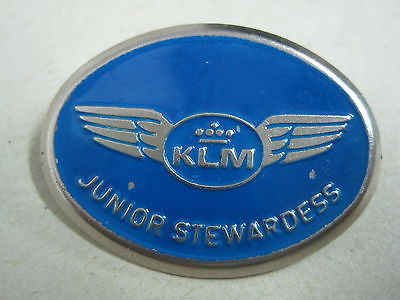 Primary image for Antique brooch Pin in metal KLM Airlines Pin Junior Stewardess