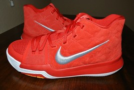 wholesale dealer 1ef40 29b74 NIKE KYRIE 3 GS UNIVERSITY RED WHITE YELLOW 859466 601 US YOUTH SZ 7Y   .