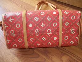 Dooney & Bourke Red Crossword Barrel Bag Handbag image 5