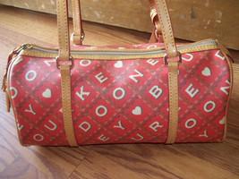 Dooney & Bourke Red Crossword Barrel Bag Handbag image 3