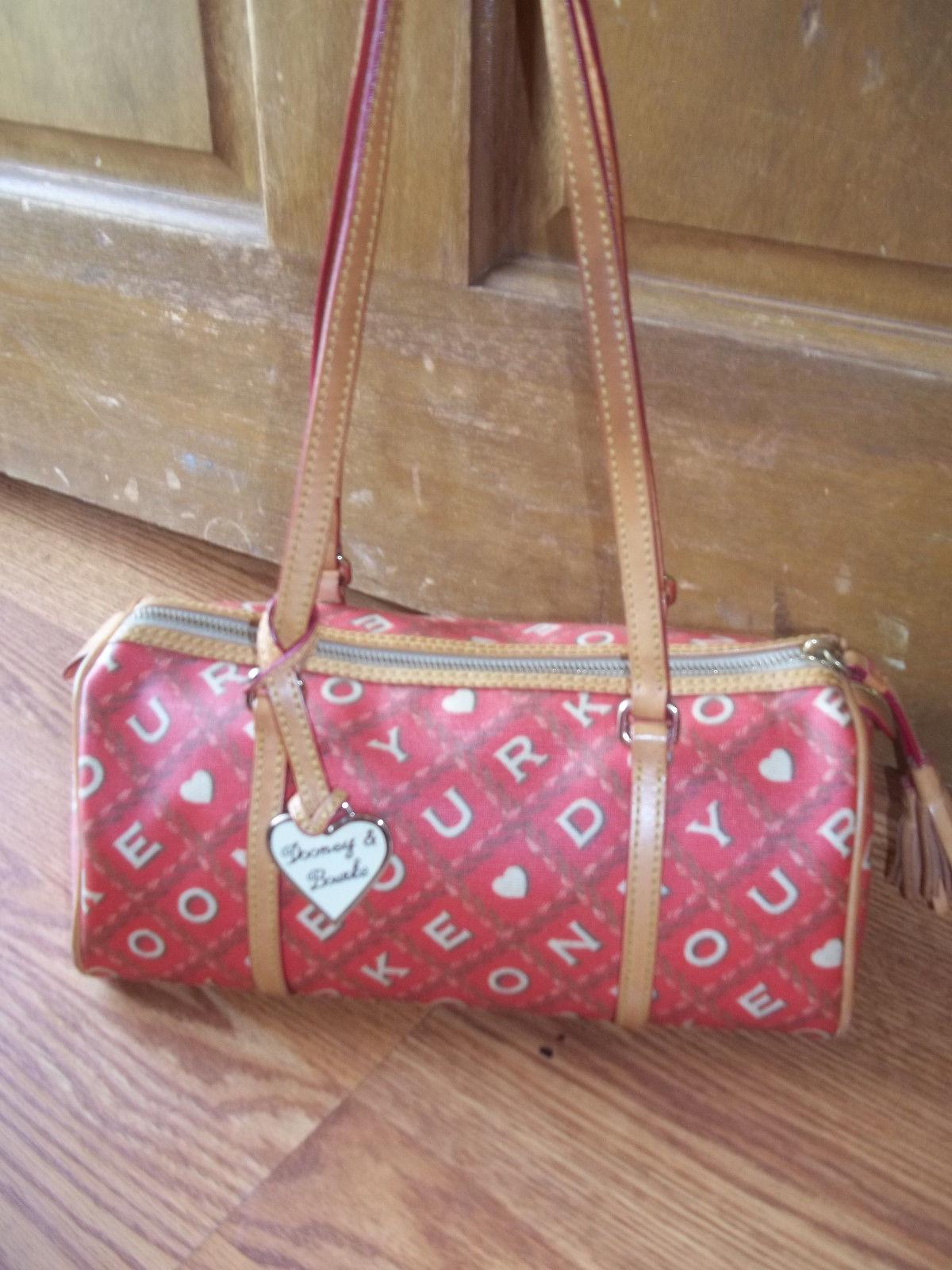 Dooney & Bourke Red Crossword Barrel Bag Handbag image 2