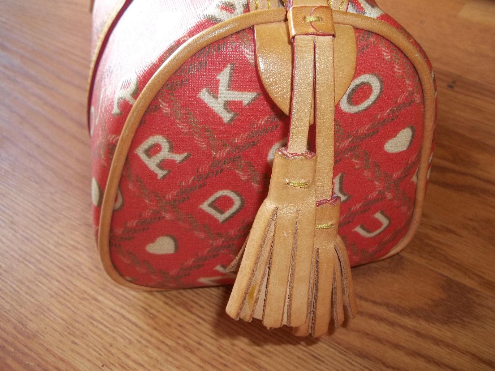 Dooney & Bourke Red Crossword Barrel Bag Handbag image 7