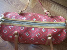 Dooney & Bourke Red Crossword Barrel Bag Handbag image 4