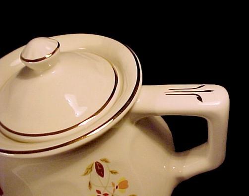 Hall Autumn Leaf Bellevue Teapot Jewel T Tea NALCC