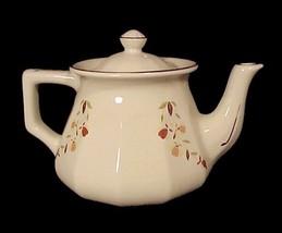 72004a hall china autumn leaf bellevue teapot jewel t tea dinnerware pot 2004 nalcc thumb200