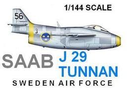 1/144 scale Resin Kit Saab J-29 Tunnan - $12.00