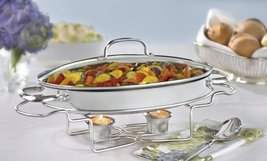 "Buffet Server Stainless Steel Oval 13-1/2"" Catering Party Entertain Food... - $75.99"