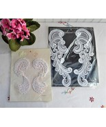 Lace Appliques 1980s Pair White Pearls Unopened Collar Crafts Victorian ... - $28.00